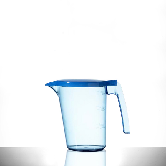 750ml Bedside Jug Blue With Lid